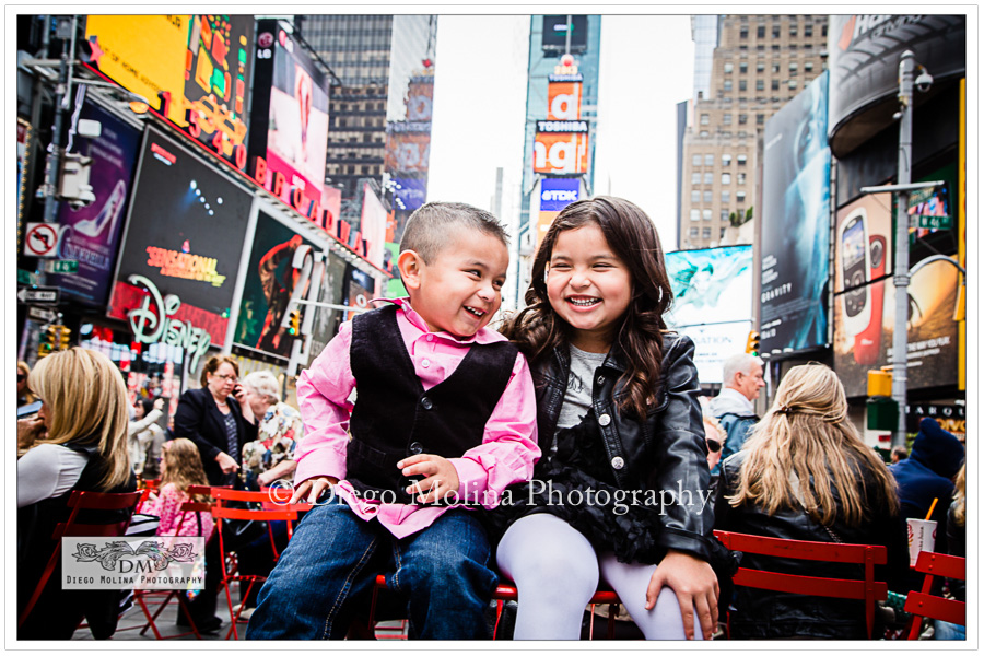 Children Photography Times Square New York City