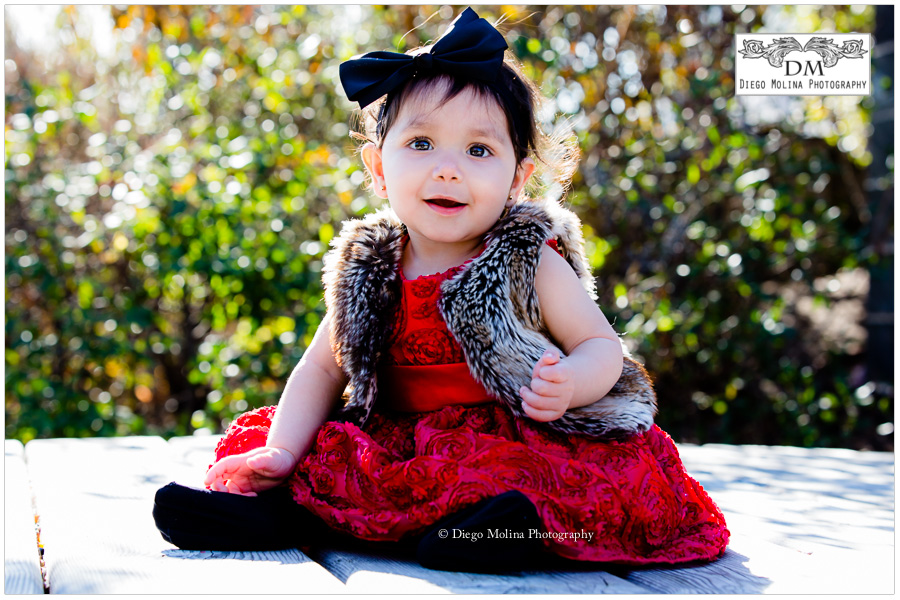 the lovely princes at her portrait session with daddy