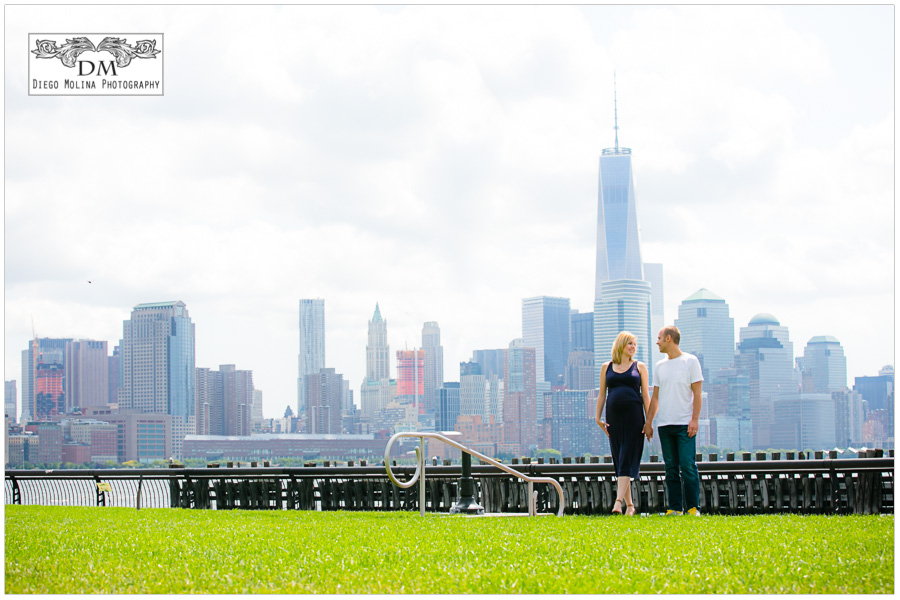 city of hoboken nj - pier a park - maternity photos