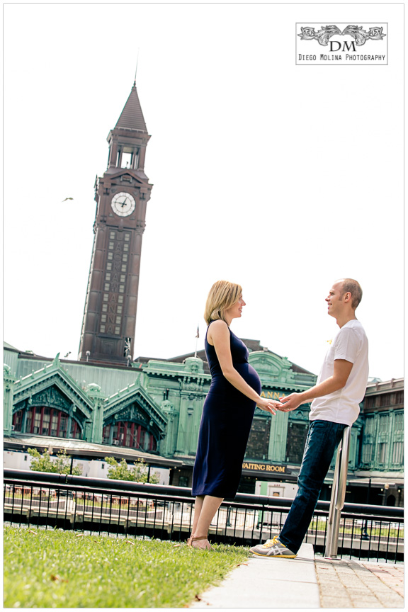 hoboken couple maternity photo session