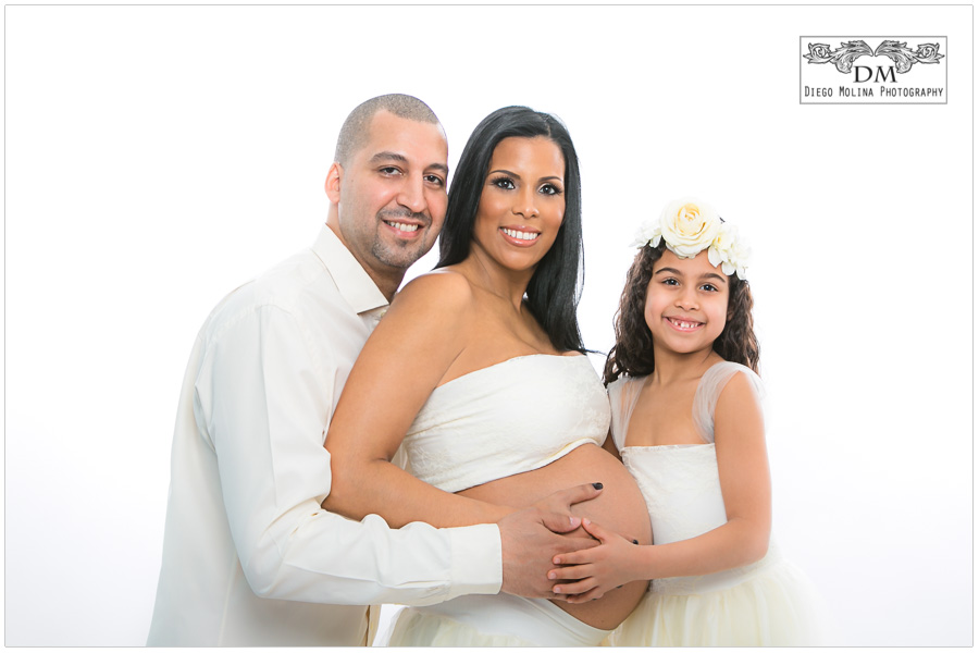 New York City Maternity Photography Studio Session - Luxury Maternity Photographer in NYC - Diego Molina Photography