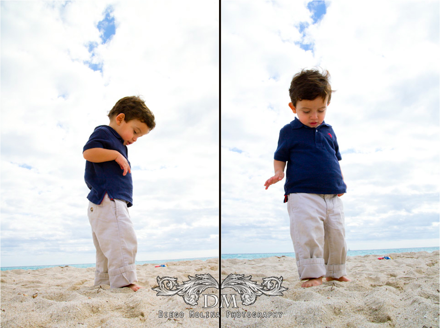 beach portrait session kids
