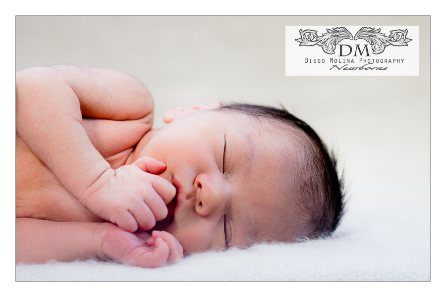Newborn baby announcements photo studio