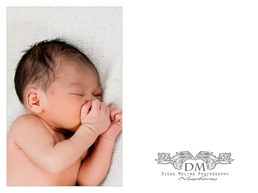 Newborn anouncements lifestyle on location photographer