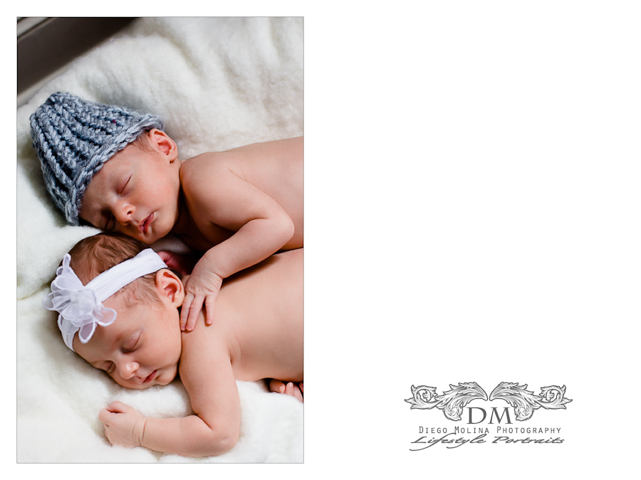 Beautiful Twins Newborn Baby and Announcement Photography