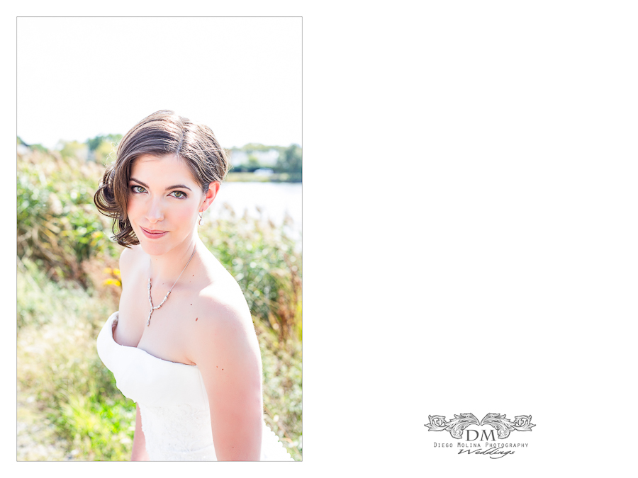 bridal photography session at the wedding