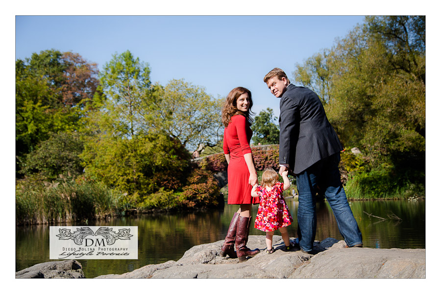 Family and Baby Portraits in Central Park, New York City.