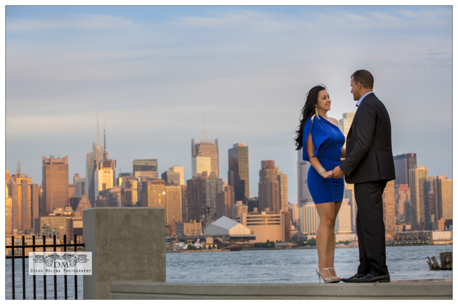New Jersey Pre Wedding Pictures over looking New York City