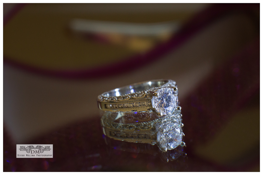 Beautiful diamond wedding ring for the beautiful bride