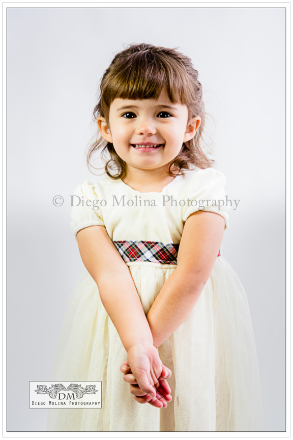 Beautiful girl portrait session at the studio