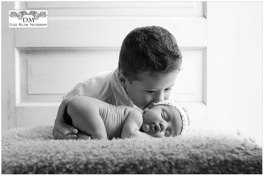 Bergen County, NJ big brother and baby sister newborn session, baby photographer